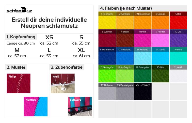 Erstell dir eine individuelle Neopren schlamuetz auf schlamuetz.de
