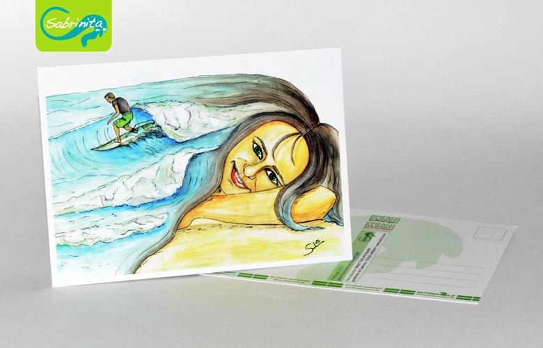 Postkarte A6 – Kunstdruck: Atlantika