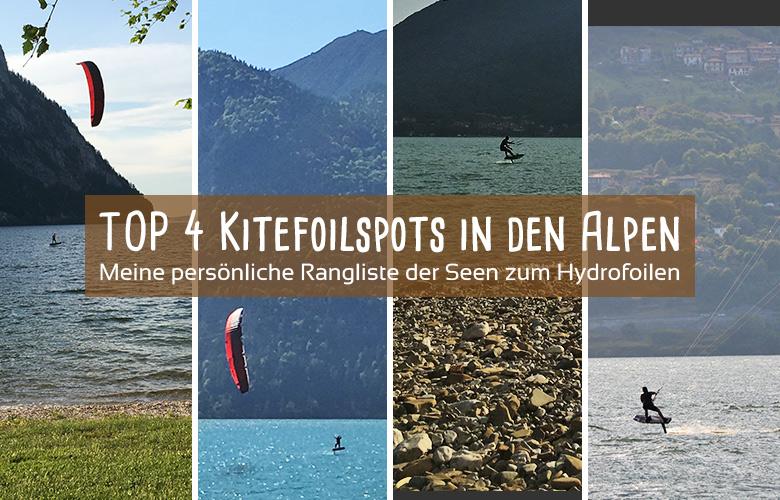 Meine TOP 4 Kitefoilspots in den Alpen - Sabrinita kreativer Kiteblog
