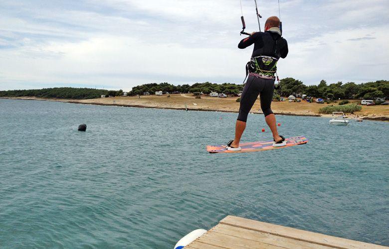 Ab ins Wasser, Kitesurfen in Premantura, Kroatien