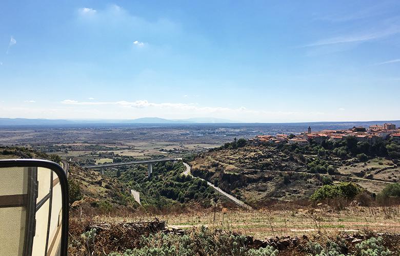 Der Ausblick Richtung Süden auf Sardinien