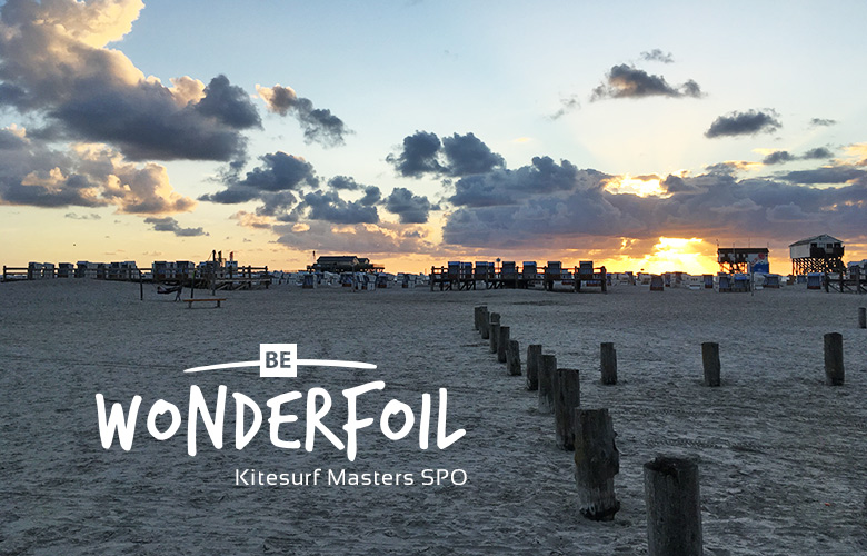 Be wonderfoil bei den Kitesurf Masters in St Peter Ording, 2017