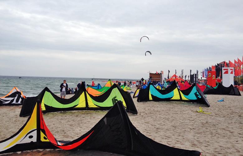 Bereit für den Freestyle beim Kitesurfworldcup auf Fehmarn 2016