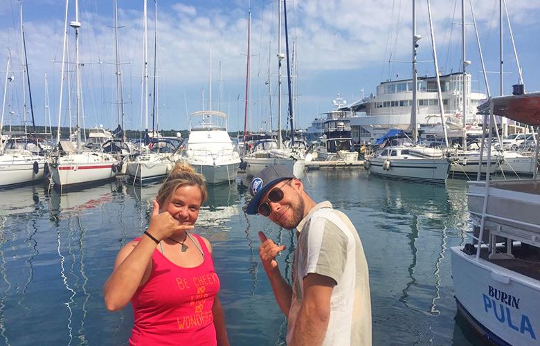 Bereit zum segeln in Pula, Kroatien