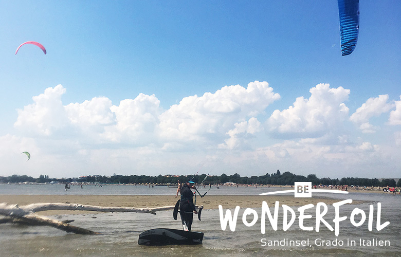 Be Wonderfoil Pfingsten bei der Sandinsel in Grado, Italien