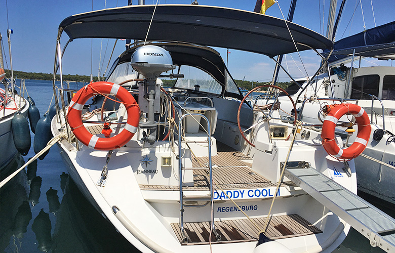 Unser Segelboot Daddy Cool in Pula, Kroatien