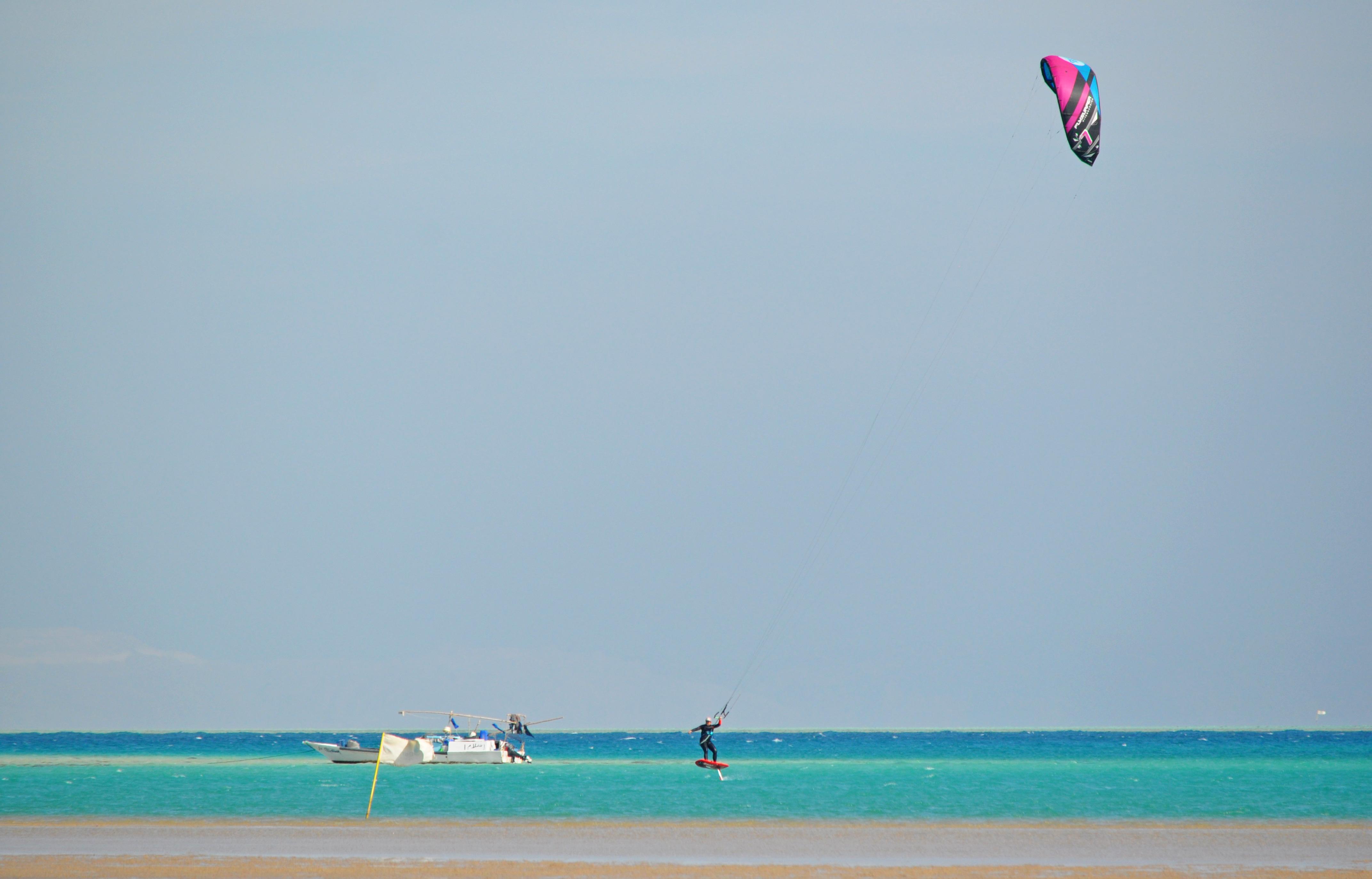 Der südlichste Kitespot von El Gouna, Ägypten, super zum Hydrofoilen