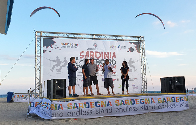 Skippermeeting Kite Foil Gold Cup Cagliari, Sardinien