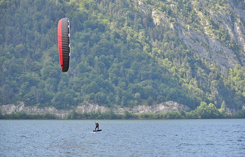 Foiltraining am Traunsee in Oberösterreich