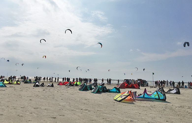 Freestyle Action bei den Kitesurf Masters in St Peter Ording 2017