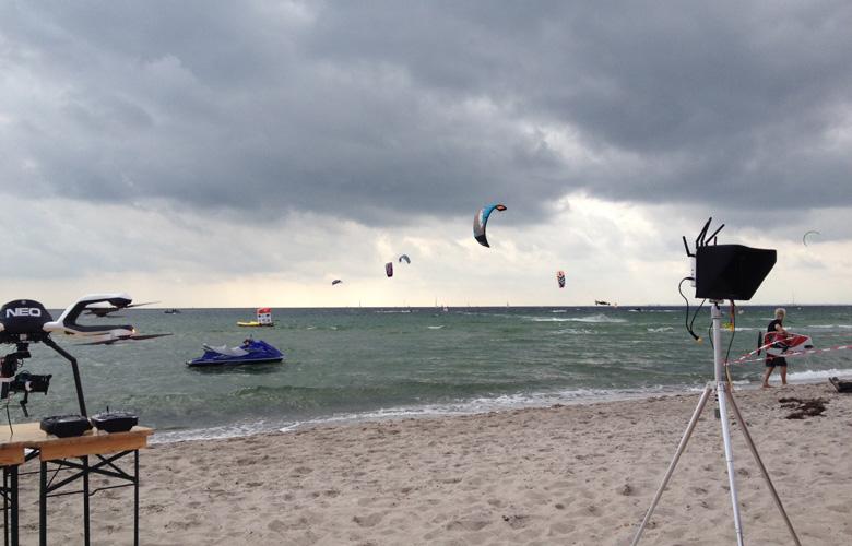 Freestyle Viertelfinale der Männer beim Kitesurfworldcup auf Fehmarn 2016