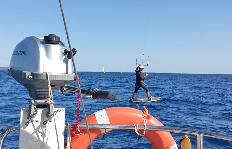 Hydrofoilen und segeln in Kroatien