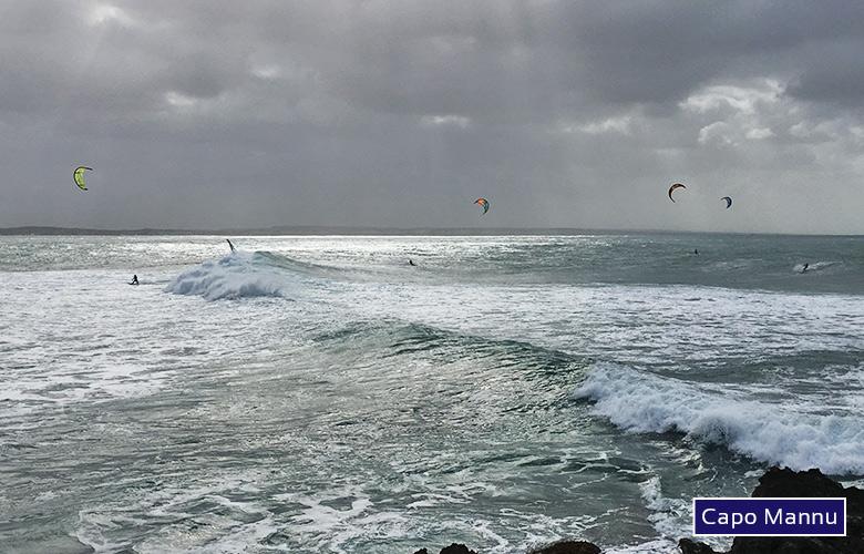 Der große Surfspot in Capo Mannu Sardinien