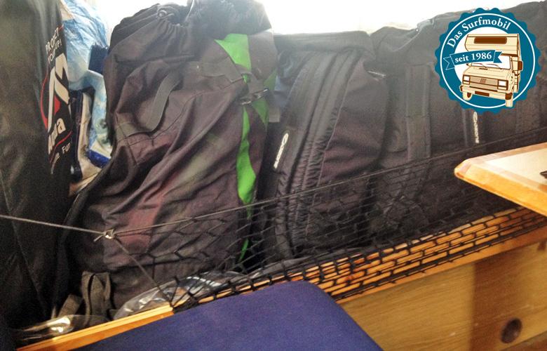 Die Kites erhalten einen eigenen Sitzplatz mit Netz und Folie