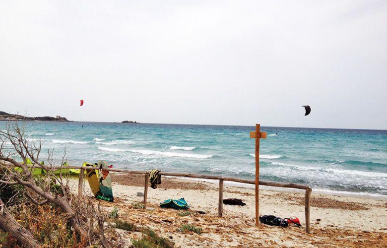 Der Kitespot Campulongu, Sardinien