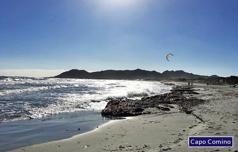 Kitespot Capo Comino auf Sardinien