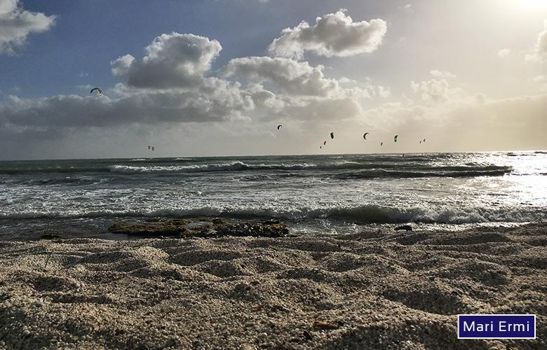 Der Kitespot Mari Ermi auf Sardinien