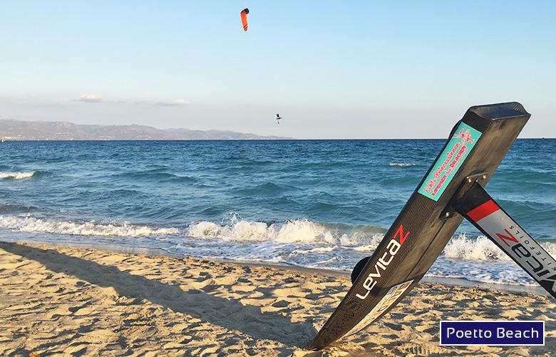 Leichtwind Sundowner am Poetto Beach, Sardinien