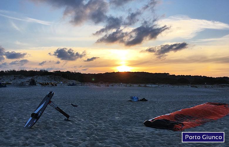 Kitespot Spiaggia di Porto Giunco auf Sardinien