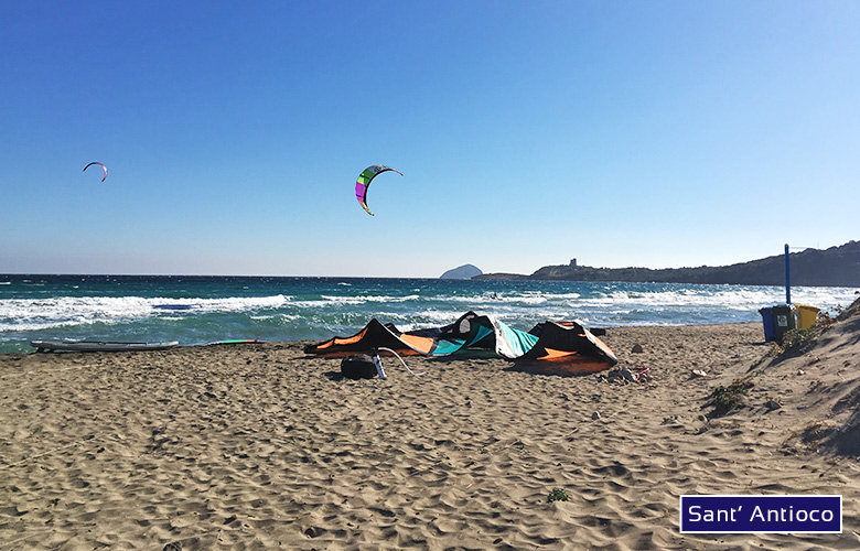 Kitespot Sant' Antioco bei Sardinien