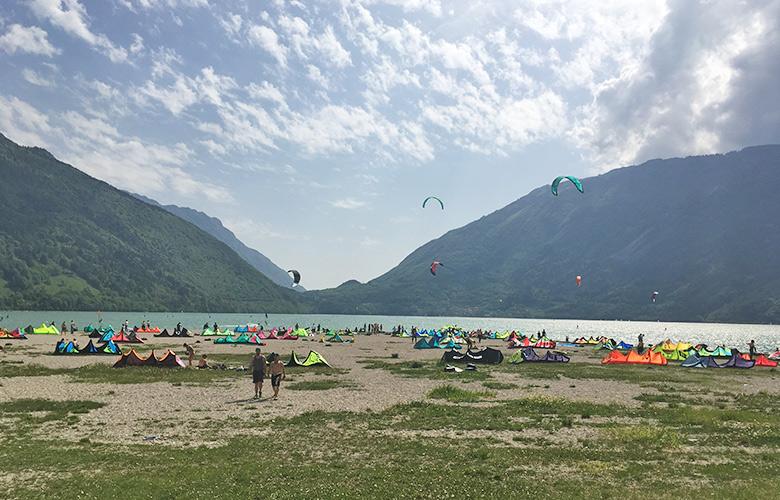 Der Kitestrand am Lago di Santa Croce Kitespot