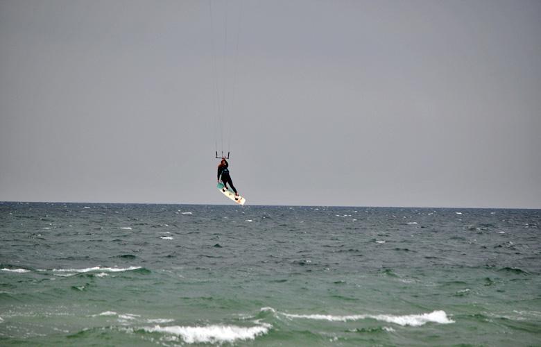 Super Kitesession am Püttsee Strand auf Fehmarn, Grap