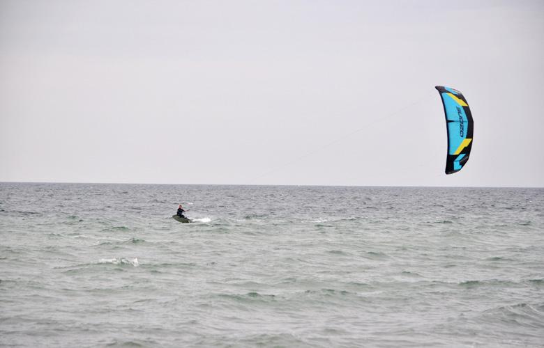 Coole Racboard Session am Püttsee Strand auf Fehmarn