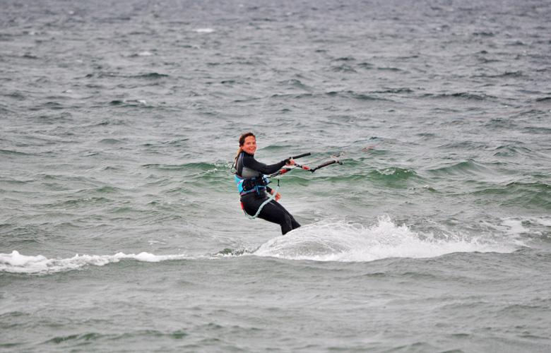 Kiten macht einfach glücklich, Püttsee Strand auf Fehmarn