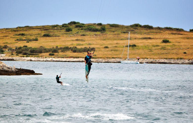 Kitesurfen in Premantura, Kroatien