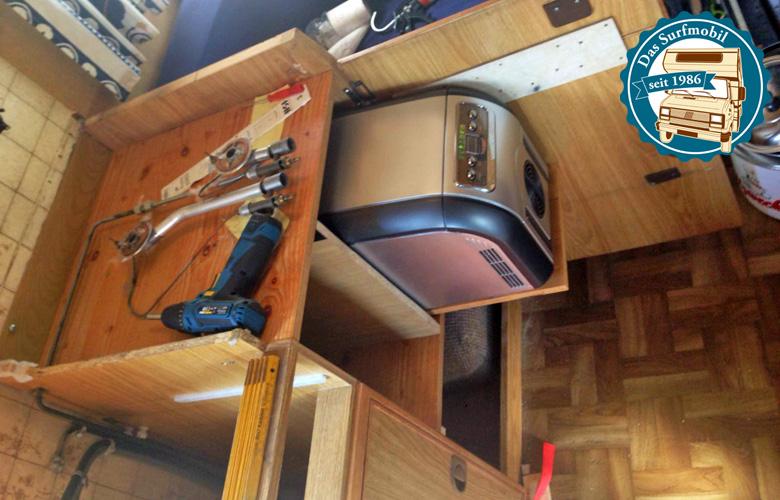 An seine Stelle kommt die Kühlbox und zusätzlicher Stauraum