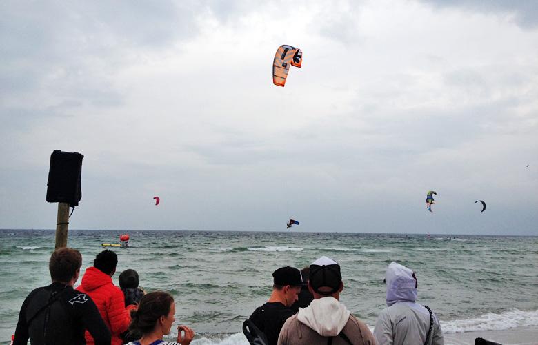 Freestyle der Männer beim Kitesurfworldcup auf Fehmarn 2016
