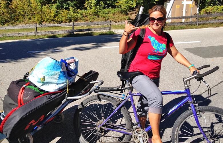 Am besten mit dem Fahrrad zum Kitespot Sachenbach am Walchensee