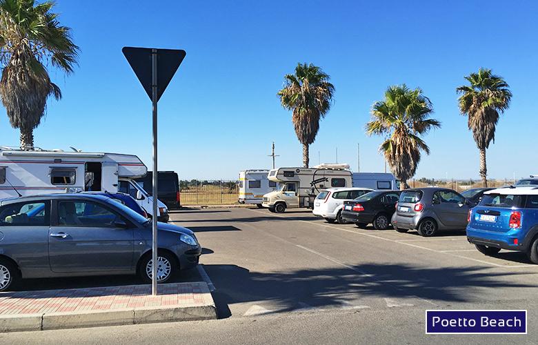 Parkplatz Poetto Beach, Sardinien
