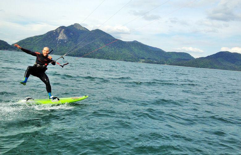 Etwas Spaß unterm Racen am Walchensee