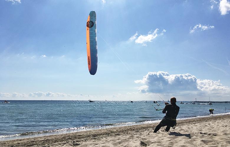 Windtest am Südstrand auf Fehmarn - Hydrofoil Pro Tour Germany