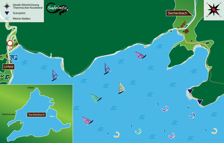 Kitespot Beschreibung für Sachenbach am Walchensee