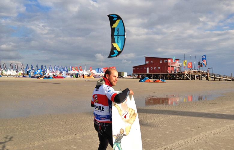 Jetzt geht es besser nach einer schönen Abendsession – Kitesurworldcup St Peter Ording