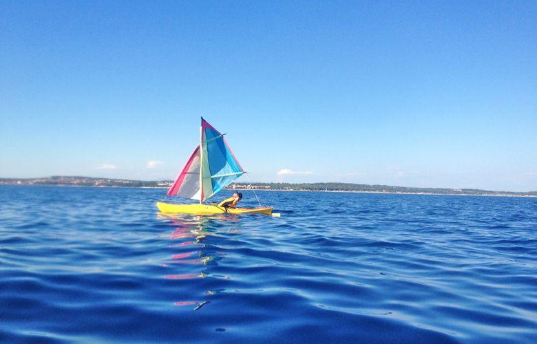 Bisschen segeln statt kiten in Premantura, Kroatien