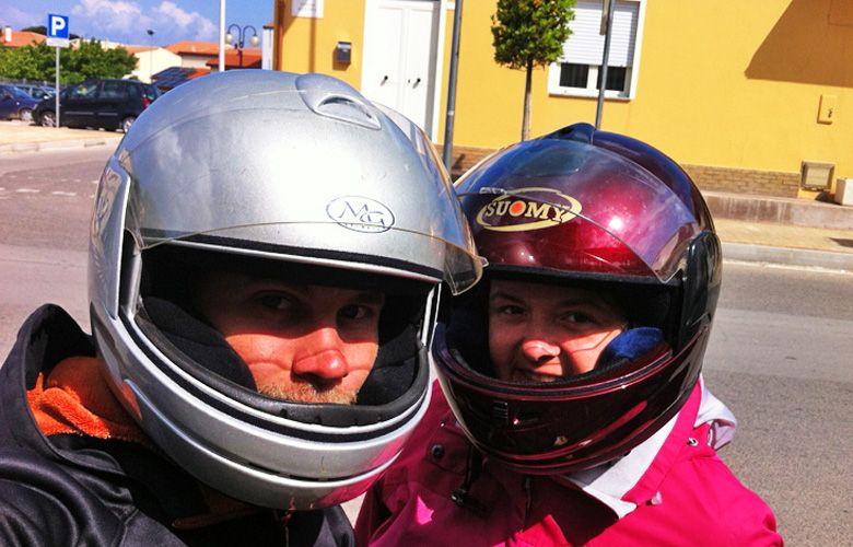 Mit dem Roller in Valledoria unterwegs