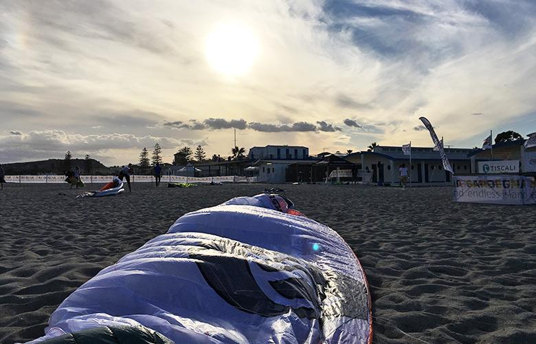 Sonnenuntergang nach 3 Races – Sardinia Kiteboard Grand Slam, Cagliari
