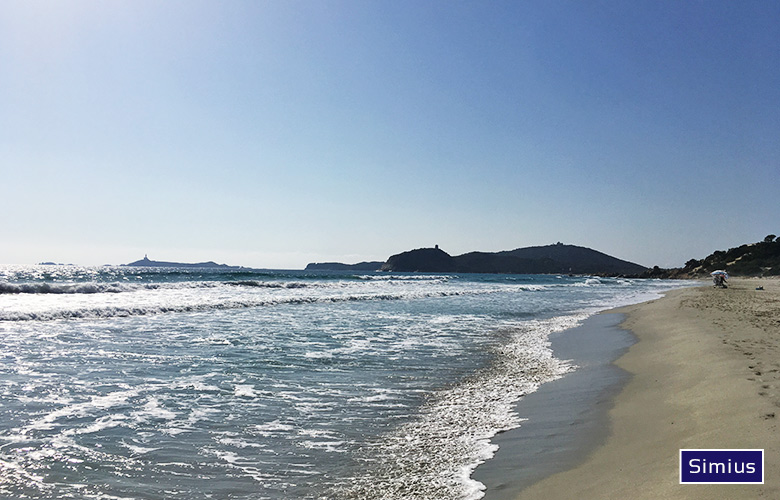 Kitespot Spiaggia di Simius auf Sardinien