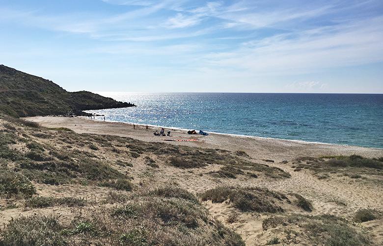 Der Startplatz – Ktespot San Giovanni di Sinis, Sardinien