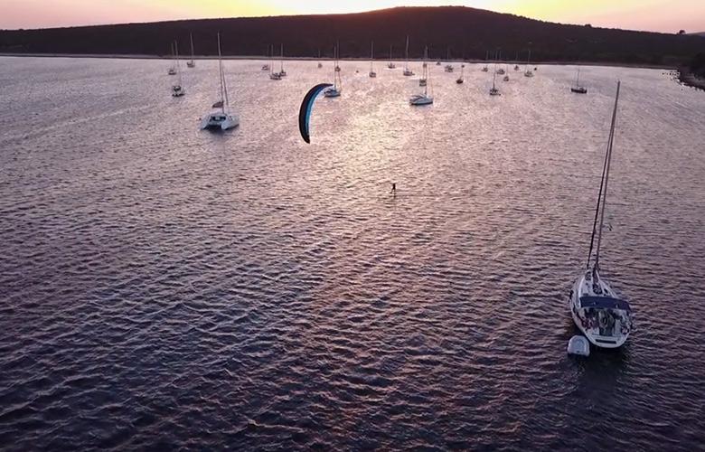 Sundowner in Kroatien mit Hydrofoil