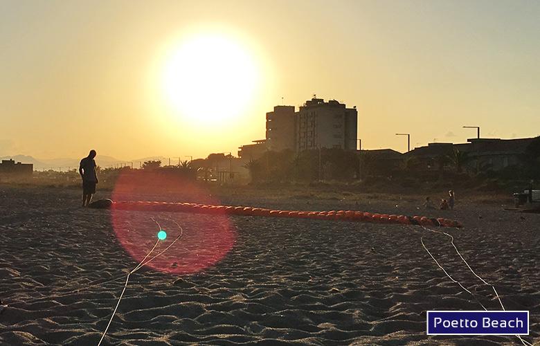 Sundowner am Poetto Beach auf Sardinien