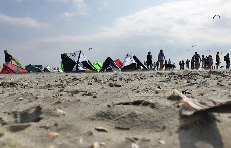 Die Testarea bei den Kitesurf Masters in St Peter Ording 2017