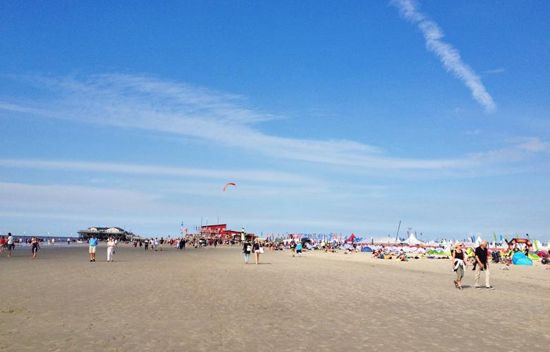 Test- und Kitesurfworldcupgelände in St Peter Ording