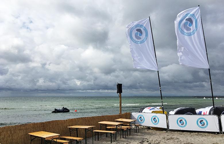 Wolkenstimmung beim Kitesurfworldcup auf Fehmarn