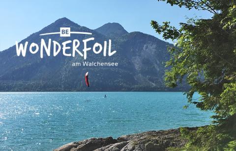 Be Wonderfoil am Walchensee im Mai 2017