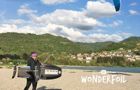 be Wonderfoil am Lago di Santa Croce Ende April 2018