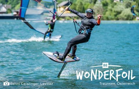 Be Wonderfoil beim Lakeventure Funfoilrace von Levitaz am Traunsee
